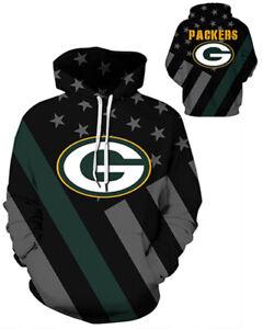 Green Bay Packers Hoodie Lightweight Small-XXXL 2XL Unisex Men Women Football