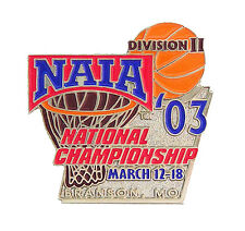 2003 NAIA D II Men's National Basketball Championship Pin Northwestern Wildcats