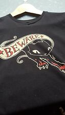 "EMILY THE STRANGE ""BEWARE"" T-SHIRT SIZE SMALL"