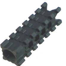 """Tufforce Muzzle Brake For 1/2""""-28 Barrel thread with 2 Side Rail, USA Patent"""