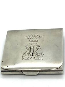 Russian Imperial Silver 14 K Gold Enamel Cigarette  Mini Case