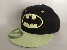 Batman Glow In The Dark Black & Green Snapback Hat Cap $25