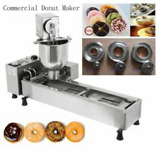 Commercial Automatic Donut Fryer Maker Machine Wide Oil Tank 3 Sets Free Mold