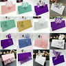 50Pcs Wedding Party Table Name Place Cards Laser Cut Love Heart Pearlescent Card