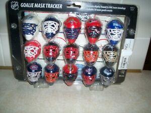 Franklin NHL Ice Hockey Mini Goalie Masks Helmets & Tracker Board NIP