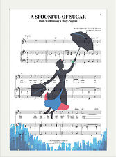 MARY POPPINS DICTIONARY ART MUSIC SHEET SCORE PAGE ART PRINT POSTER KIDS ROOM