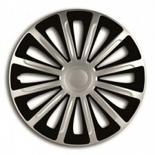 "RENAULT TWINGO (07-14) 15"" 15 Inch Car Wheel Trims Covers Black + Silver"