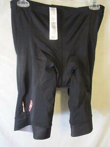 """Classic 2XL Black CASTELLI """"Fondo Fit"""" Road Bike Compression/Padded Shorts-Mint"""