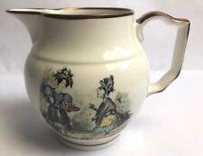 More details for vintage grays pottery made stoke on trent victorian figures design jug england