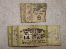 VINTAGE JEFFERSON STARSHIP & FLEETWOOD MAC CONCERT TICKET 1976