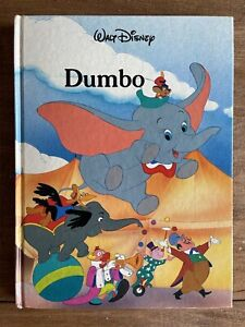 Vintage 1986 Disney DUMBO Large Hardcover Book by Twin Gallery Books Near Mint!
