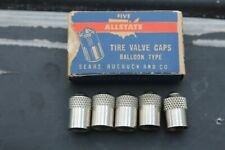 Vintage  Tire valve metal caps tool auto accessory gm street hot rod parts