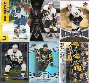 SIDNEY CROSBY  a lot of 6 DIFFERENTS CARDS INSERTS see scan  LOT 41      a