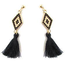 Black Gold White Art Deco 1920s Vintage Style Earrings Stud Drop Flapper 1060