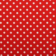 100% Cotton Red Printed Canvas Polkadot Curtain Cushion Light Upholstery Fabric
