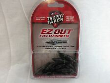 "One Dozen Trophy Taker EZ out field points 100 grain 17/64"" or 5/16"""