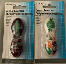 ASSURED CONTACT LENS CASE soak,store, Carry For Hard Or Soft Contact Lenses