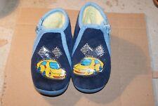 Pantoufle enfants pantoufle motif voiture  en bleu marine taille 18