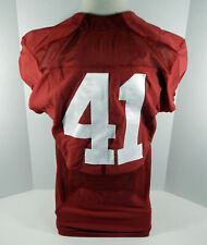2016-18 Alabama Crimson Tide #41 Game Used Red Jersey Bama00110