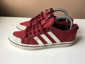 ADIDAS ladies red casual trainers size 5