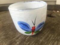 Kosta Boda  Ulrica Hydman Vallien Small Votive Vase Butterflies Ships Free