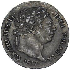 More details for 1817 maundy penny 1d - george iii british silver coin - nice
