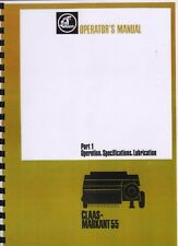 "Claas ""Markant 55"" Baler Operator Instruction Manual Book"