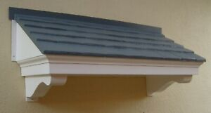 GRP Door Canopy The Cotswold Mews Grey Fixings & Fitting Instructions Included