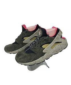 Nike Mens Air Huarache Run PRM Shoes 704830-010 Low Gym 9.5 Athletic Crossfit