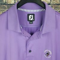 FOOTJOY Mens Purple S/S Golf Polo Shirt Medium M Forest Creek Club