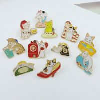 Fashion Cute Alloy Multi-shape Cat Brooch Pin Collar Corsage Women Jewelry Gift