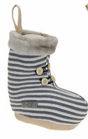 Small Christmas Doorstop Boot Christmas Decoration Doorstop Boot Red or Grey