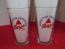 "Bass Ale  1 Pint Pub Glass  Pair (2)  ""World Pub Expedition"""