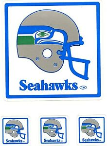 VINTAGE SEATTLE SEAHAWKS  TEAM ISSUED STICKER STICKERS / DECAL NFL 1980'S  MINT