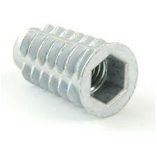 Confezione da 20-M6 X 20mm-INSERTO FILETTATO PER LEGNO-CON FLANGIA-Hex Drive FIX