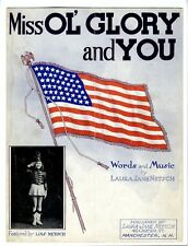 MANCHESTER NH Sheet Music 1942 Laura Jane Netsch Mill Ol Glory And You