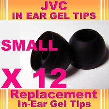 12 JVC In Ear Buds HeadPhones Headset Earphones Gel Tips Small