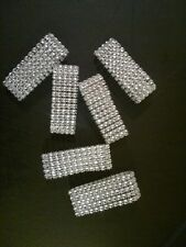 10 Diamond Rhinestone Bling Napkin Rings 5 Row - Wedding, Birthday, Anniversary