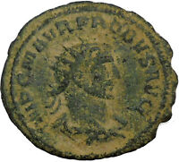 Probus receiving globe  from Jupiter  281AD Ancient Roman Coin  i34712