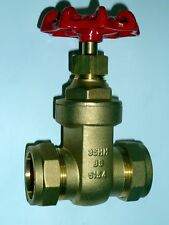 35mm Gate Valve | Brass Valve With Red Handle | CxC Compression