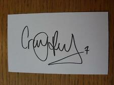 50's-2000's Autographed White Card: Pead, Craig - Coventry City