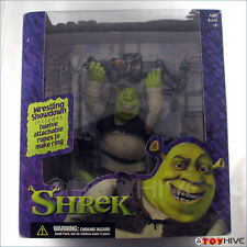 Shrek Wrestling Showdown Shrek figure with wrestling ring McFarlane damaged box