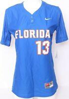 NEW Florida Gators Nike Team Blue Short Sleeve Baseball Softball Jersey Women M