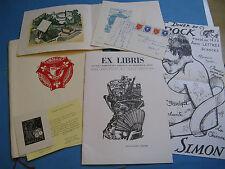REVUE CONGRES EX-LIBRIS 1962 + CARTES MENU ESPAGNE MERCIER Fonds DELATOUSCHE