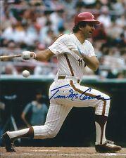 Signed 8x10 Timccarver Philadelphia Phillies Autographed photo - Coa