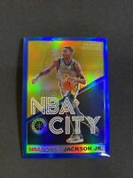 Jaren Jackson Jr 2019-20 Hoops Premium Stock NBA City BLUE Prizm Holo GRIZZLIES