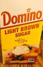 8 PACK, Domino Light Brown Sugar, 1 Lb Box, PREMIUM CANE SUGAR, EXPIRES 05JAN22.