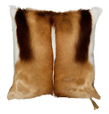 "Springbok Skin Pillow Case 18x18"" TROPHY GRADE (similar to cow hide skin pillow)"