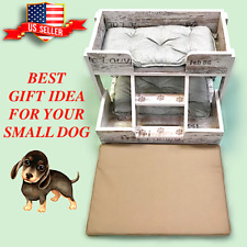 "Dog House & Playground  Stylish Modern-Vintage for Small  Dogs (24"" x 18"" x 22"")"