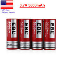 4 Pcs EBL 26650 Battery Li-ion Rechargeable High Drain For LED Torch Toy
